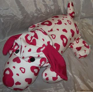 Plush 20 Microbead Rose Pink Hearts Squishy Puppy Dog Pillow