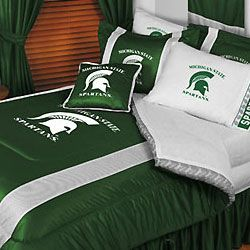 NCAA Michigan State Spartans Twin Comforter Bedding Set