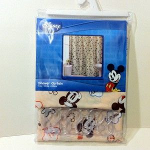 New Disney Mickey Minnie Mouse Shower Curtain 180x180cm