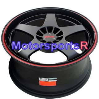 18 XXR 962 Black Red Stripe Rims Wheels 5x114 3 08 09 10 11 Scion XB
