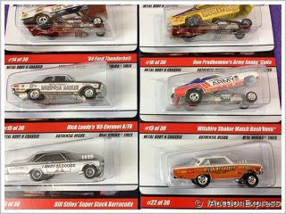 Lot ★ New 12 PC Hot Wheels Factory Case ★ 2010 Drag Strip Demons