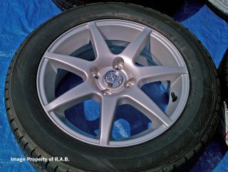 Brand new factory Toyota wheels with brand new Dunlop tires