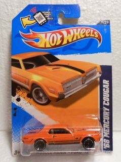 HOT WHEELS 2012 #119 MUSCLE MANIA FORD 68 MERCURY COUGAR ORANGE W/MC5