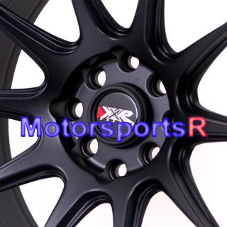 XXR 527 Flat Black Concave Rims Wheels Stance 4x100 +0 Offset BMW E30