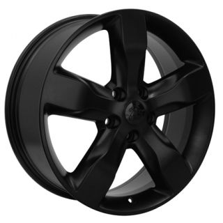 Jeep Grand Cherokee Matte Black Overland Wheels Set of 4 OEM 9107 Rims