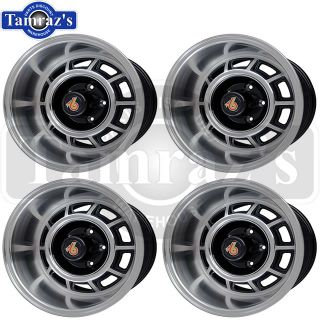 Grand National GN Aluminum Wheel Kit Repro Rim Center Cap 15x8 QTY2