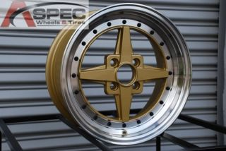 Rota Zero Plus 15x7 4x100 ET35 Royal Gold Rims Wheels