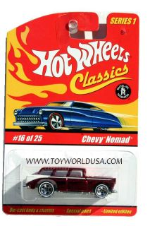Hot Wheels Classics Series 1 16 Chevy Nomad Red
