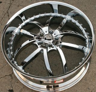24 Chrome Rims Wheels Chrysler 300 300C V6 V8 24 x 9 5 5H 18