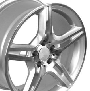 17 Silver AMG Wheels Set of 4 Rims Fit Mercedes C E s Class SLK CLK