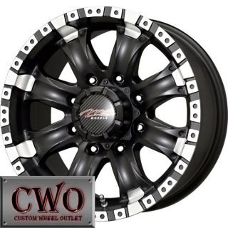 16 Black MB Chaos 8 Wheels Rims 8x170 8 Lug Ford F250 F350 Super Duty
