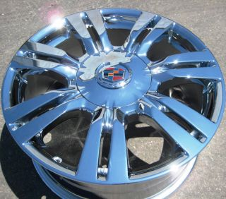 STOCK 4 NEW 18 FACTORY GM CADILLAC SRX CHROME WHEELS RIMS 2010 13