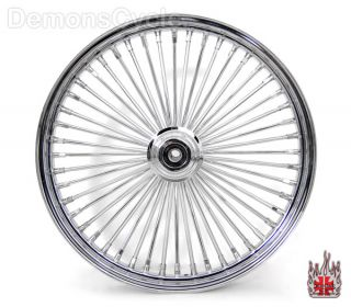 Chrome Rims Wheels King Spokes 48 250 Set Fits Harley