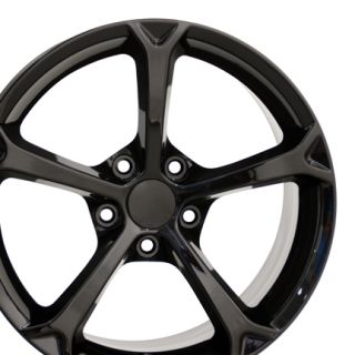 18 Corvette C6 ZR1 Black Wheels Set of 4 Rims Fit Chevrolet