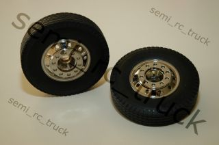 New Tamiya 1 14 Semi Truck Front Wheels