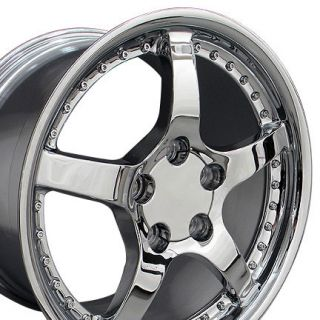 17 Rim Fits Corvette Chrome C5 Rivet Wheel 17 x 9 5