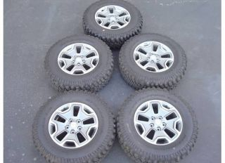 17 2013 Jeep Wrangler Rubicon Wheels Rims Tires Factory Unlimited Set
