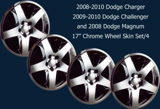 08 10 Dodge Charger Challenger Magnum 17 Chrome Wheel Skins Imp 344X