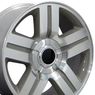 22 Silver Texas Truck Wheels Rims Fit Chevrolet GMC Cadillac Set of 4
