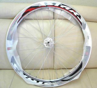 Road Bike 700c 32H Fixed Gear Front & Rear Wheels set   Chrome