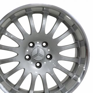 18 8 9 Silver Wheel Set of 4 Rims Fit Mercedes C E s Class SLK CLK