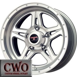17 Silver Level 8 Strike 5 Wheels Rims 5x127 5 Lug Chevy GMC C1500