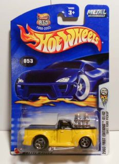 HOT WHEELS 2003 #53 FIRST ED. 1941 FORD PICKUP GLOSS ROOF VARI MINT ON