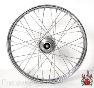 New 21X2 15 Chrome 40 Spoke Front Wheel Rim for Harley Davidson