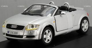 Audi TT Coupe Silver Convertible Diecast Car Scale 1 43