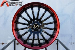 18X7 G LINE G601 WHEEL 5X108 +40 BLACK RED LIP RIM FITS VOLVO S40 V40