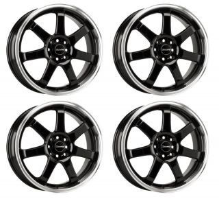 Drag Wheels DR35 17 Rims Gloss Black 4 Lugs 42 Offset