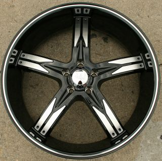762 22 Black Rims Wheels Nissan Altima 02 Up 22 x 8 5 5H 35