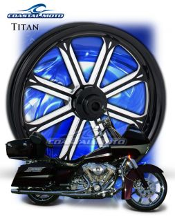 Titan DS Custom Motorcycle Wheels Harley Streetglide Roadglide King PM