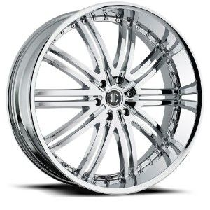22 inch 2CRAVE NO11 Chrome Wheels Rims 6x5 5 SLX Escalade Astro Van