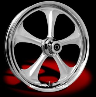 Chrome 23 x 4 0 Wanaryd Adrenaline Wheels Tires Harley FLH FLHR FLHX
