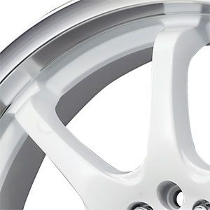 New 17X7 5 100/5 114.3 DR 55 White Machined Lip Wheels/Rims
