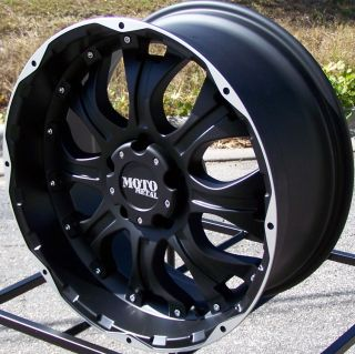 20 Moto Metal Black Wheels Ford F 250 F 350 King Ranch