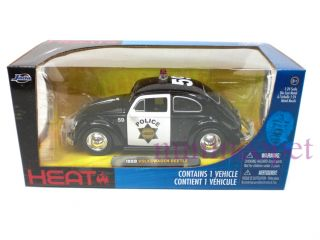 Jada Heat 1959 59 VW Volkswagen Beetle 1 24 Police Car
