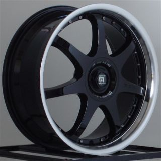 18 inch Wheels Rims Motegi Racing FF7 Black 5 Lug Lugs