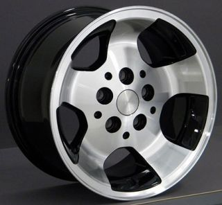 15x8 Black Wrangler Wheels Rims 31x10 5 Tires Fits Jeep