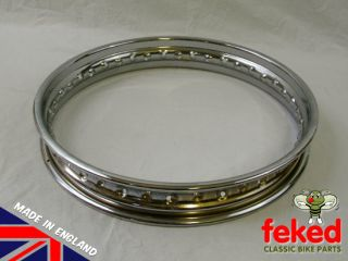 BRAND NEW Chrome Rim for the Rear Wheel on Triumph TR25T, T120 Unit