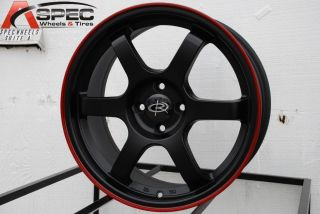Rota Grid 16x7 4x100 ET40 67 1 Black Red Rims Wheels