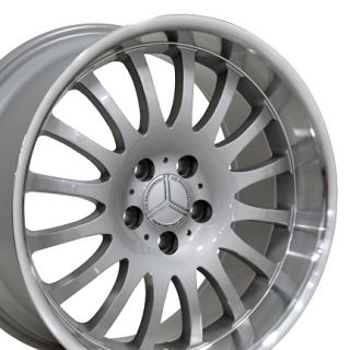 18 Silver Wheels Set of 4 Rims Fits Mercedes Benz