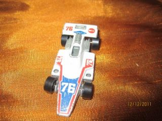 RARE Mattel Hot Wheels 1975 Race Car White Formula 76 Bell Goodyear