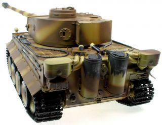 16 Taigen German Tiger I RC Tank with Smoke Sound Effects Hand