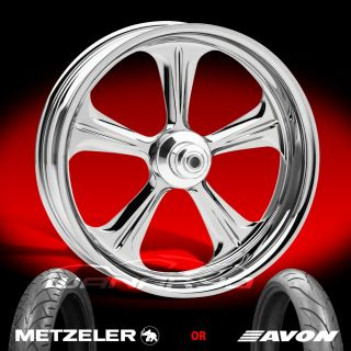 Performance Machine Wrath Chrome Front Wheel and Tire for 2000 13