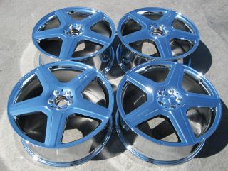 MERCEDES ML63 GL550 R350 R63 ML550 AMG CHROME WHEELS RIMS   SET OF 4