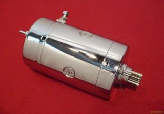Chrome Starter Motor Hitachi for Harley Ironhead Shovel