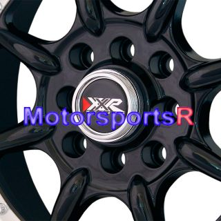 15x9 XXR 002 Black Staggered Rims Wheels 89 94 Nissan 240sx S13 Stance