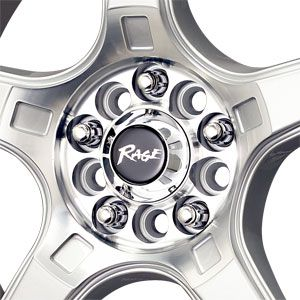 17X7 5 105/5 114.3 Rage A5 Silver Machined W/ Blue Stripe Wheel/Rim